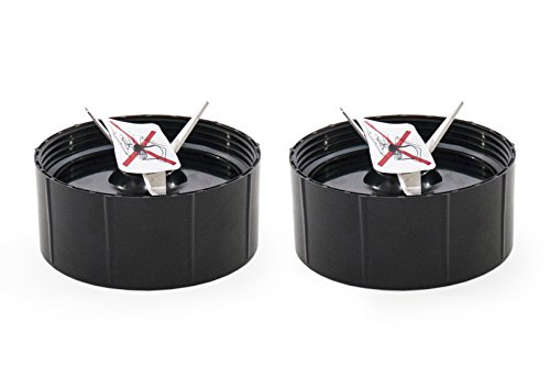 Set of 2 Cross Blades compatible with Magic Bullet Blender Juicer Mixer (Cross Parts)