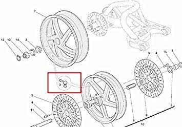 Ducati Oem Factory Wheel Tire Valve Stem 49720012a All Cast Wheel