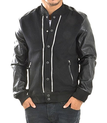Project X Chaqueta con mango de piel negro XL: Amazon.es ...
