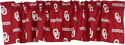 - College Covers Oklahoma Sooners Printed Curtain Valance - 84