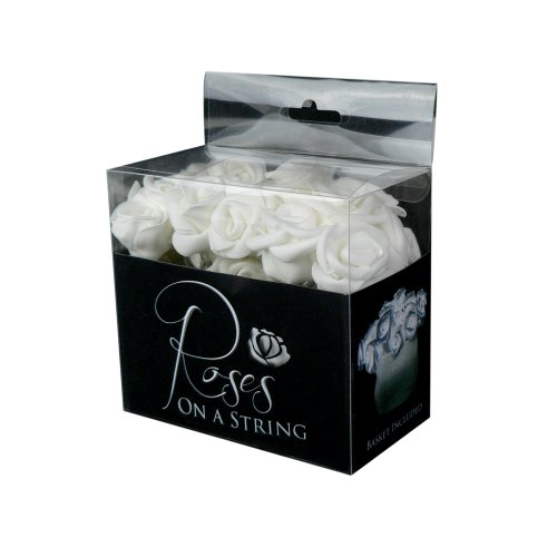 Fortune Products ROSE-100W Roses on a String Light, 10' Length, Cool White Lights (Single Strand)