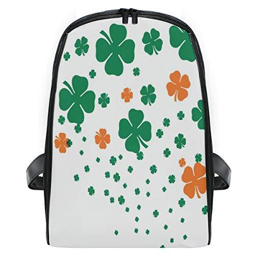 (Four Leaf Clover Flourish Border School Backpack For Girls Kids Elementary School Bag Mini Backpacks)