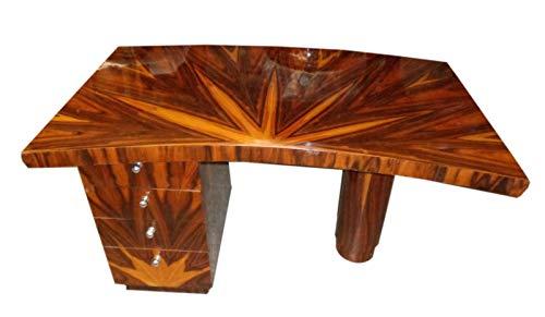 Rosewood Deco Desk Art - Art-Deco Style Desk Insuperbly Veined Rosewood