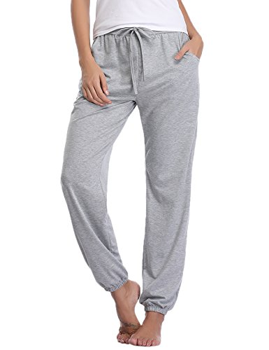 (Aibrou Pajama Pants Womens Cotton Stretch Knit Lounge Pants Bottoms)