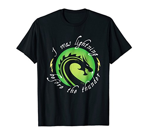 - I Was Lightning Before - Dragon Graphic T-shirt