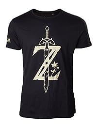 Zelda T Shirt Legend of Zelda Big Z Game Logo Sword Official Mens New Black