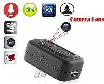 eptek @ 8 GB Mini Cámara oculta espía adaptador sector cámara cámara de DVR cámara pared cámara oculta Mini DVR detección de movimiento cámara espía UE/US ...