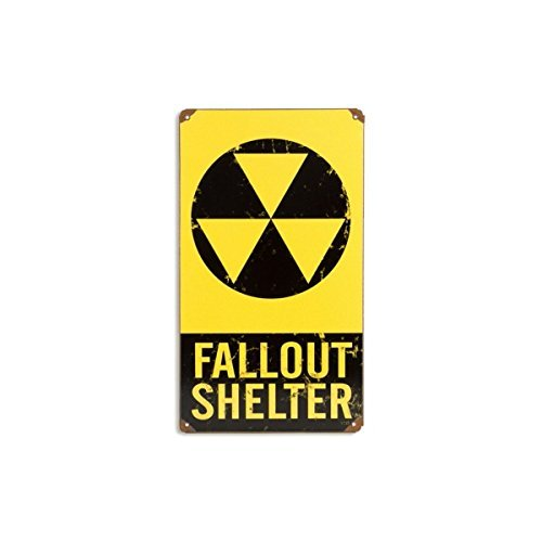 Fallout Shelter Sign - Fallout Shelter Warning Tin Metal Vintage