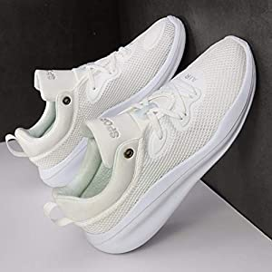 MTENG Couple Breathable Mesh High Elastic Sneakers Solid Color Platform Casual Shoes (36-46)