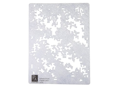 Primary Arms Digital Camouflage Stencil for Tactical Rifle Airbrush or Spray Paint Design