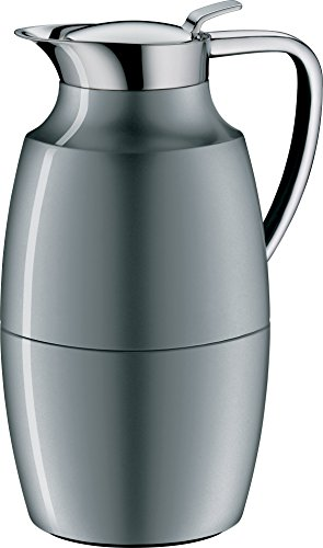 alfi Pallas Glass Vacuum Lacquered Metal Thermal Carafe for Hot and Cold Beverages, 1.0 L, Space Grey by Alfi Carafes