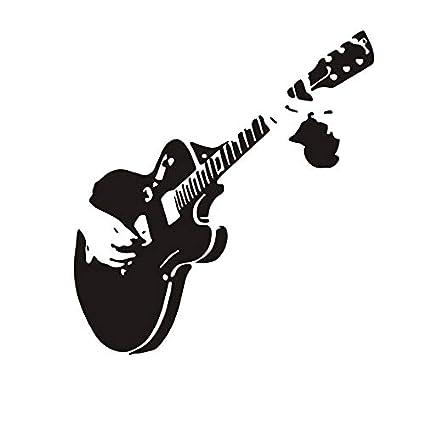 Arte creativo Guitarra Pegatinas de Pared Decoración para el hogar DIY Instrumentos Musicales vinilo pegatinas de