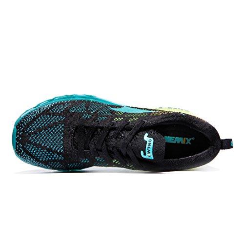 ONEMIX Running Baskets Trail Course Sport Noir Bleu Basses Chaussures Homme Air Compétition de ete 1qr1I