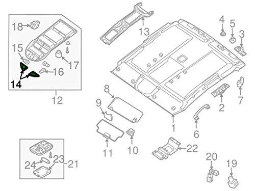 Amazon Com Nissan Armada Titan Interior Overhead Readling Map Lamp