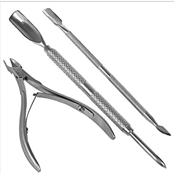 Amazon.com : 3Pcs/Pack Silver Alicates De Cuticulas Nail Edge Cutter Tip 50G/Pc Nail Care Set Utility Nail Clipper Kit : Beauty