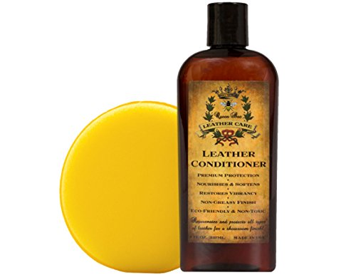 Gift Set of Best Leather Care, Leather Conditioner, Showroom Finish, Furniture, Jackets, Handbags, Auto Seat Upholstery, Boots, Motorcycles, Saddles, Water-resistant & Non-toxic Formula!