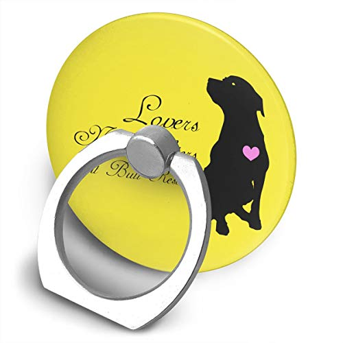 Yuotry 360 Degree Rotating Ring Stand Grip Mounts Lovers Not Fighters Pit Bull Rescue Universal Phone Ring Bracket Holder Smartphone Ring Stent]()
