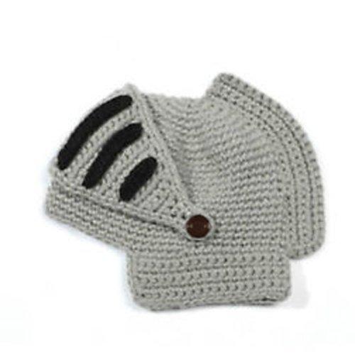 LOCOMO Roman Knight Helmet Visor Cosplay Knit Beanie Hat Cap Wind Mask FFH088GRY]()
