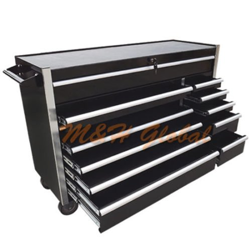 Metal Tool Cabinet 56'' Roller with 12 Bbs Drawers Mobile Toolbox w/ Wheels - 56' Tool Chests