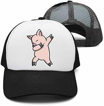c2542e5633458 Men Women Pig Dabbing Denim Fabric Baseball Hat Adjustable Street Rapper Hat