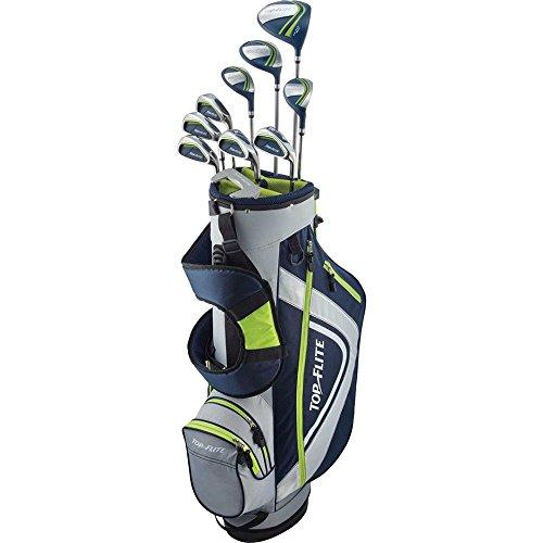 Top Flite Complete Golf Club Set Mens 2018 Volt XL w/ 6-Way Stand Bag Regular Flex - Right - Flite Top Mens Xl