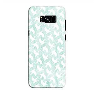 Cover It Up - White Bird Print Galaxy S8 Hard Case