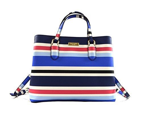 Kate Spade Evangelie Laurel Way Printed Shoulder Bag Purse Handbag, New Waltz Stripes by Kate Spade New York