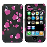 Premium - Apple iPhone 3G/3GS Raining Hearts Cover - Faceplate - Case - Snap On - Perfect Fit Guaranteed