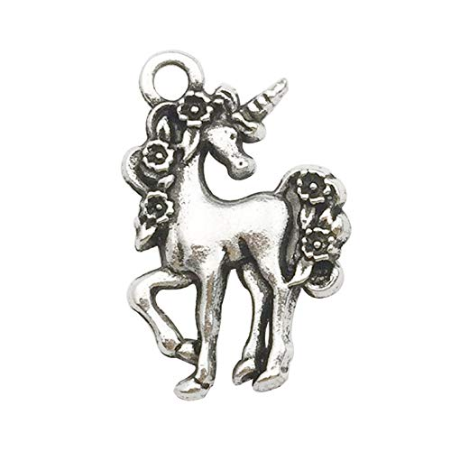 Youdiyla 50pcs Unicorn Charms, Horse Metal Charm Pendant Supplies Findings for Jewelry Making C9191 -