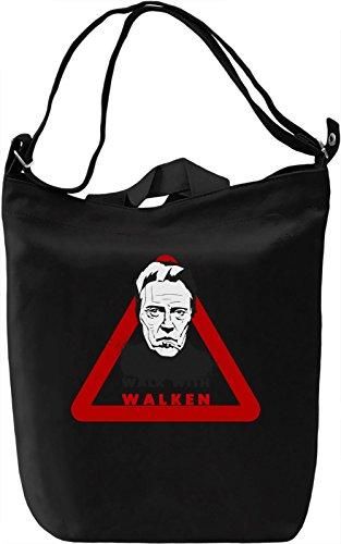 Walk With Walken Borsa Giornaliera Canvas Canvas Day Bag| 100% Premium Cotton Canvas| DTG Printing|