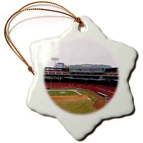 3dRose The The Vibrant Colors of Fenway Up Above from The Green Monster Snowflake Ornament, 3
