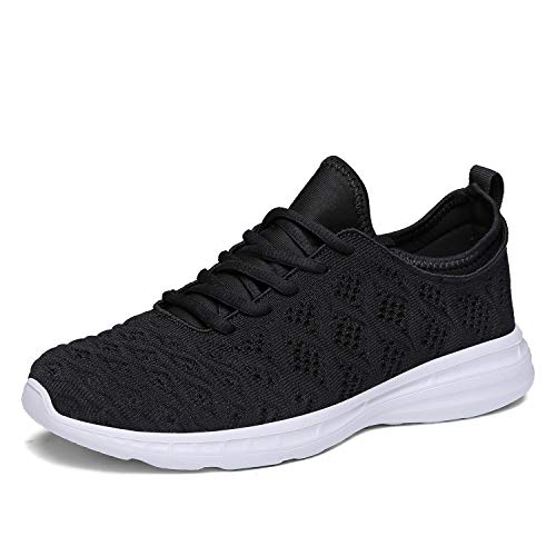 JOOMRA Women Running Shoes Breathable Gym Jogging Walking Sport Athletic Fashion Tennis Sneakers Black Size 9