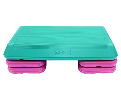 Apollo Athletics Aerobic Step with Rubber Surface, Large by Apollo Athletics