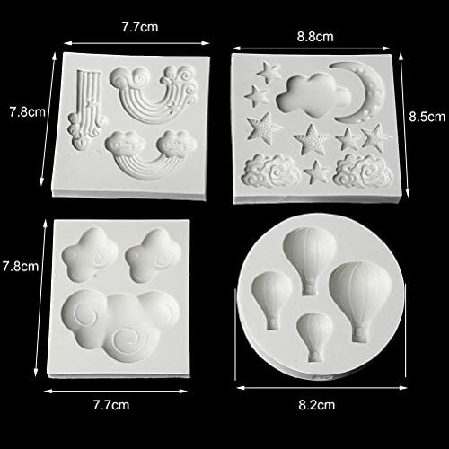perfect for fondant handmade mold for crafts made with FDA approved silicone for food and decorations Hot air balloon Mold