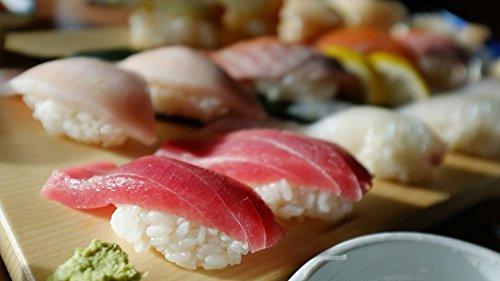laminated poster time sushi