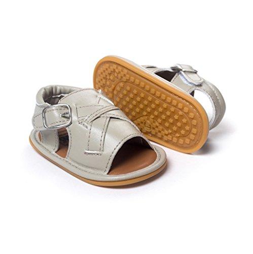 Por 3-18 Meses, Auxma Bebé niño Suela Zapatos Verano recién nacido antideslizante Sandalias para caminar