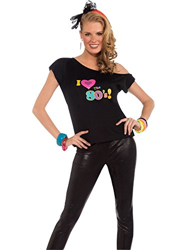 Forum Novelties Women's 80's Remix Costume Shirt, Multi