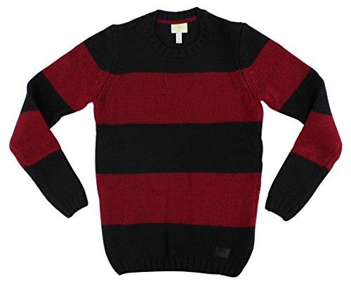 Adidas Womens Grunge Striped Knit Sweater Black XS ()
