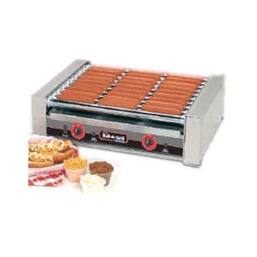 Nemco 8036 Roll-A-Grill, Hot Dog Grill, 36 Hot Dog Capacity (720 Per Hour), Chrome Rollers