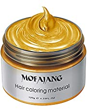 Hair Coloring Wax, Men Women Colors Optional Hair Cream, Disposable Hairstyle Styling Cream Mud, Washable Temporary Hairstyle Cream for Party Cosplay