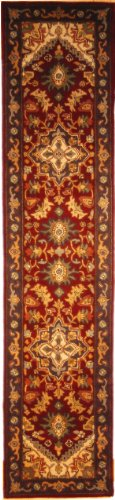 Collection Wool Runner Rug (Safavieh Heritage Collection HG625A Handcrafted Traditional Oriental Heriz Medallion Red Wool Runner (2'3