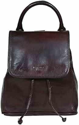 Color : Chocolate Carriemeow Vintage Leather cumputer Backpack Daypack School College Backpack Rucksack Bookbag for Men