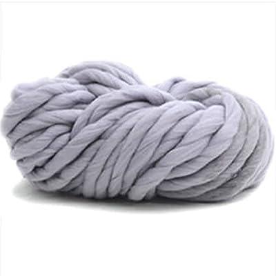 LCHULLE - Ovillo de lana para tejer supersuave, tejido a mano, de fibra de algodón, grueso como bufanda para suéter (0,25 kg): Amazon.es: Hogar