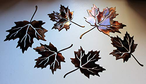 Metal Wall Art Maple Leaves Set of 6