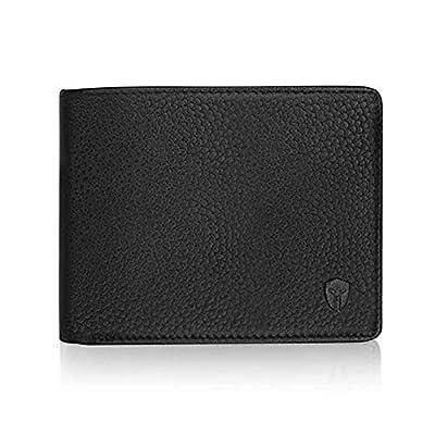 2 ID Window RFID Wallet for Men, Bifold Side Flip, Extra Capacity Travel Wallet