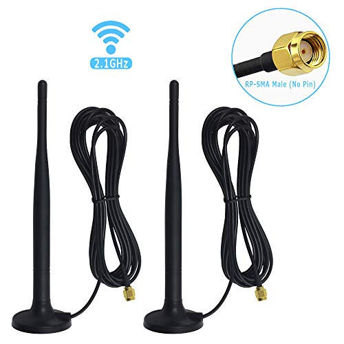 - Bechol WiFi Booster Antenna with RP-SMA Male Connector,2.4G Magnetic Base 10ft Extension Cable for Wireless CCTV Security IP Camera Video System NVR DVR (2-Pack)