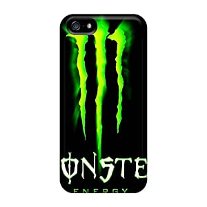 Durable Hard Phone Cover For Iphone 5/5s With Customized Realistic Monster Image SherriFakhry