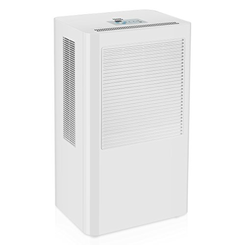 A smart dehumidifier with a tall and rectangular built.
