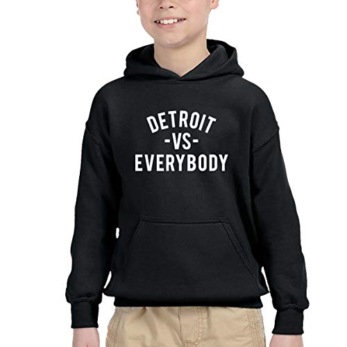 Detroit VS Everybody Cute Boy's Hooded Pullover Sweatshirts for 2-6T