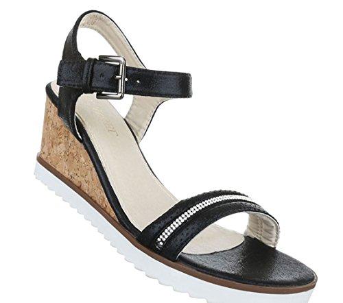 Schwarze Sandalen mit runden Nieten (36,37,38,39,40,41)